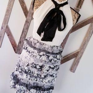 Alice + Olivia high collar ruffle dress size 2